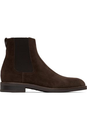 Paul Smith Brown Suede Canon Chelsea Boots