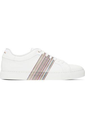 Paul Smith White Signature Stripe Basso Sneakers