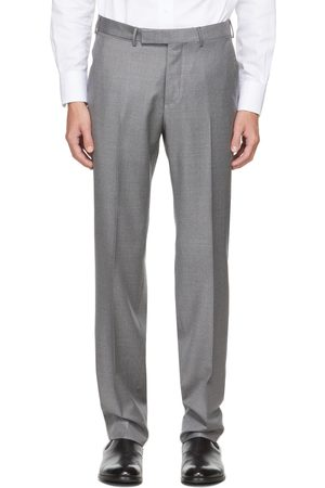 Ermenegildo Zegna Grey Wool Twill Trousers