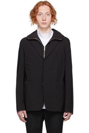 Givenchy Black Nylon Hooded Blazer