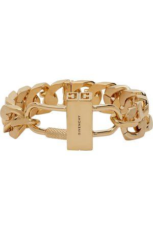 Givenchy Gold G Chain Lock Bracelet