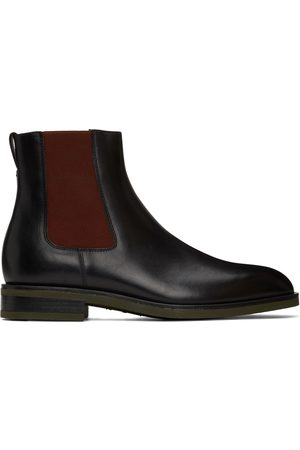 Paul Smith Black & Red Canon Chelsea Boots