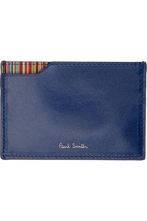 Paul Smith Blue Signature Stripe Card Holder