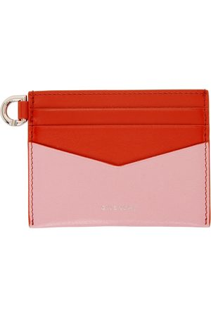 Givenchy Pink & Red Colorblocked Edge Card Holder