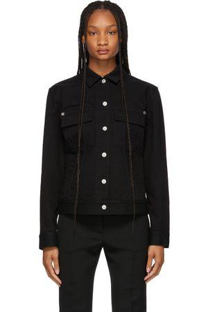 Givenchy Black Denim Rinsed Reactiv Jacket