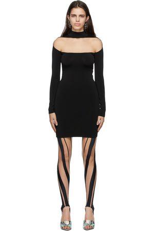 MUGLER Black Illusion Shaping Dress