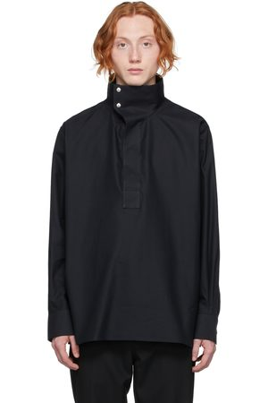Givenchy Black Woven Oxford Shirt