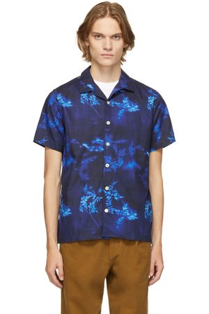 Paul Smith Navy Print Short Sleeve Shirt