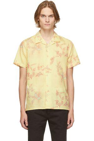 PS by Paul Smith Men Short sleeves - Yellow Print Short Sleeve Shirt