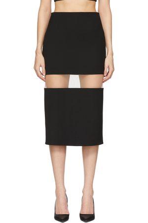 Mugler Black Segmented Skirt