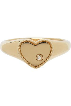 YVONNE LÉON Gold Mini Heart Ring