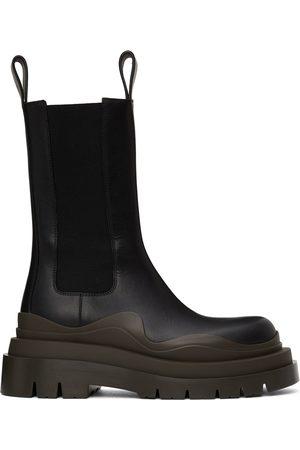 Bottega Veneta Black Tire Chelsea Boots