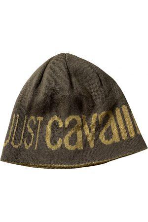 Roberto Cavalli Men Hats - Khaki Wool Hats & Pull ON Hats
