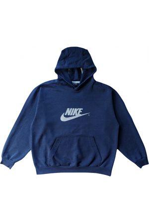 Nike Men Sweatshirts - Navy Cotton Knitwear & Sweatshirts