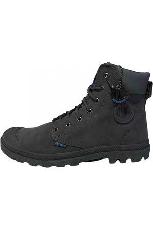 Palladium Grey Suede Boots