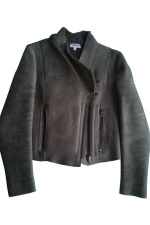 Helmut Lang Grey Leather Leather Jackets