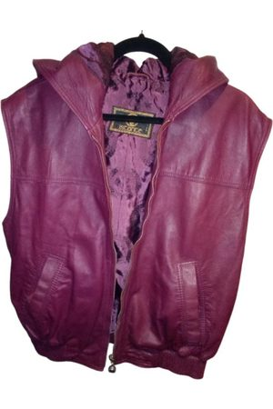 ISTANTE Burgundy Leather Jackets