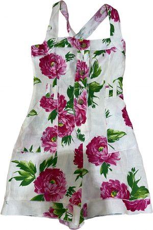 Dolce & Gabbana Ecru Linen Jumpsuits