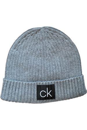 Calvin Klein Grey Cotton Hats & Pull ON Hats