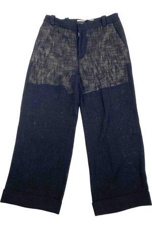 Roland Mouret Navy Cotton Trousers