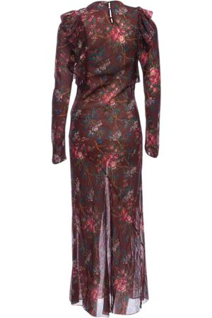 Dôen Burgundy Cotton Dresses