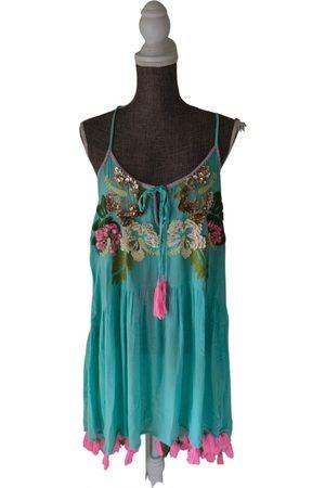 miss june Turquoise Viscose Dresses