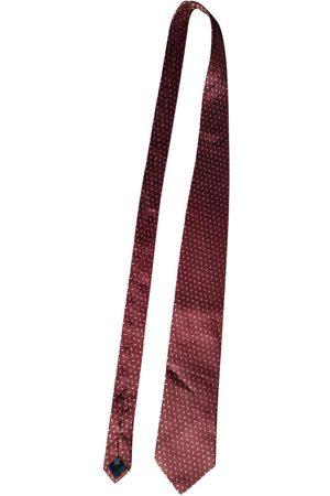 MULBERRY Burgundy Silk Ties