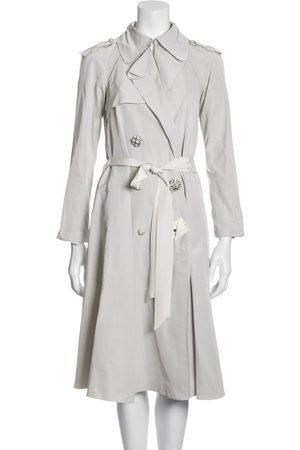 Lanvin Grey Synthetic Trench Coats