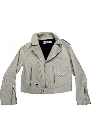 Dior Ecru Leather Jackets