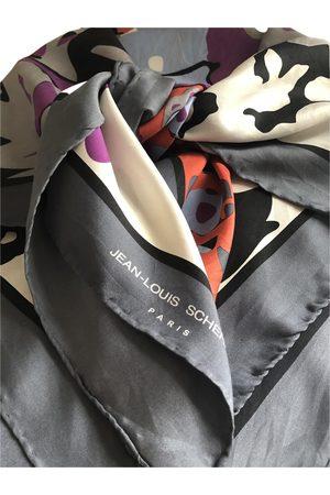 JEAN LOUIS SCHERRER Grey Silk Scarves
