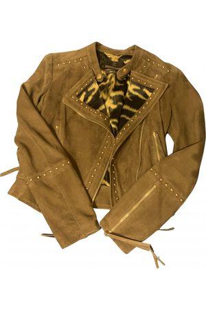 Roberto Cavalli Camel Leather Jackets