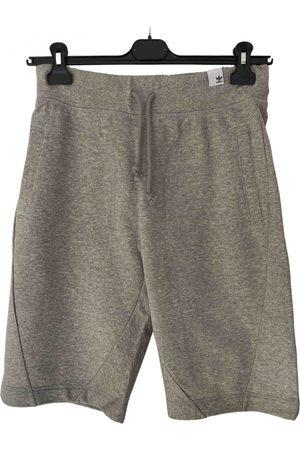 adidas Men Shorts - Grey Cotton Shorts