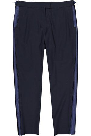 VERONICA BEARD Navy Wool Trousers