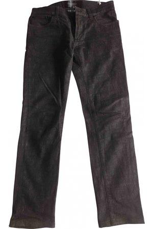 Dolce & Gabbana Burgundy Cotton - elasthane Jeans
