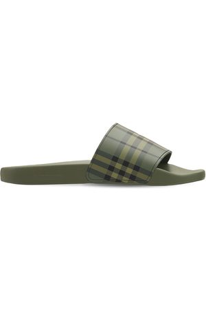 Burberry Furley Military Check Tech Slide Sandals
