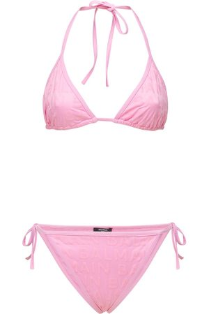 Balmain Embossed Print Logo Bikini Set