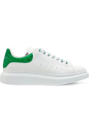 Alexander McQueen 45mm Leather & Croc Embossed Sneakers