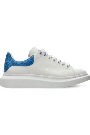 Alexander McQueen Men Sneakers - 45mm Leather & Croc Embossed Sneakers