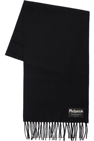 Alexander McQueen Graffiti Logo Wool Scarf