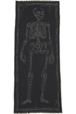 Alexander McQueen Skeleton Wool Scarf