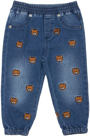 Moschino Toy Patch Stretch Cotton Jeans