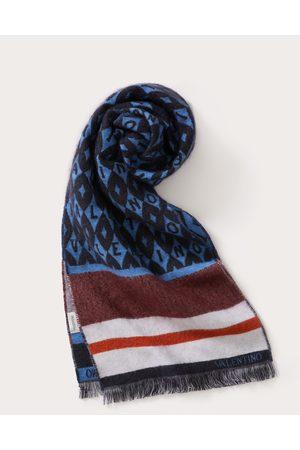 VALENTINO GARAVANI Men Scarves - Valentino Foulard Archive Mohair Wool Scarf Man Light / Mohair 26%, Virgin Wool 63% OneSize
