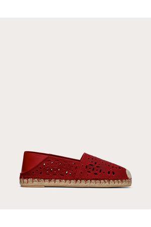 VALENTINO GARAVANI Women Espadrilles - Atelier Shoes 08 San Gallo Edition Espadrilles 15mm Women Rouge Pur 63% Cotton 37% Linen 35