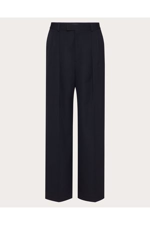 VALENTINO Men Pants - Wool Pants Man Navy 100% Wool 46