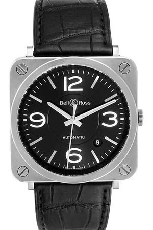 Bell & Ross Stainless Steel Officer Automatic BRS92 Men's Wristwatch 39 MM