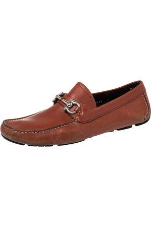Salvatore Ferragamo Leather Gancini Slip On Loafers Size 43