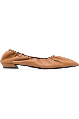 Proenza Schouler Women Ballerinas - Ruched low-heel ballerina shoes