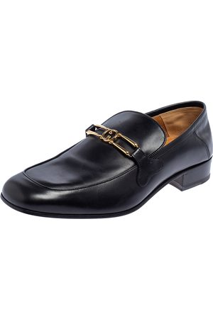 Gucci Leather GG Loafers Size 43.5