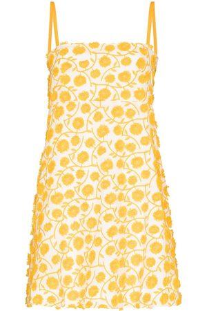 Three Graces Women Printed Dresses - Clementine floral appliqué minidress