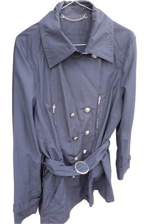 Elena Miro Anthracite Cotton Trench Coats